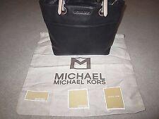 Michael Kors Black Leather Bedford TZ Pocket Tote Handbag With Tags
