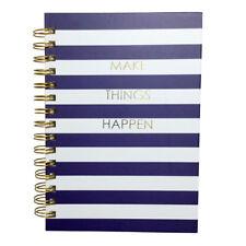 Spiral Notebook Journal Make Things Happen Inspirational Nautical Designer