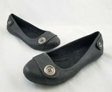 Dr Scholls Size 7M Black Gray Flats Shoes Mary Janes Career Cute C20