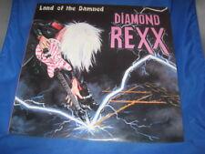 DIAMOND REXX Land of the Damned LP 1986 Island Records Heavy Metal Vinyl[INV-2]