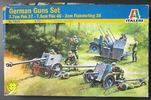 Italeri 1/72nd Scale German Gun Set No. 7026 in open box!