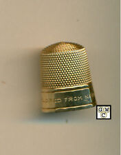 14k Gold Thimble (Mildred from Nancy) , Weight 4.9Gr. (OOAK)
