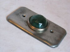 vintage Steel City wall plate cover multifaceted translucent green blue hardware