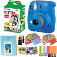 Fujifilm Instax Mini 9 Instant Camera (Cobalt Blue) + 20 Sheet Film + Acc Kit