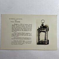 Vintage Postcard A Signal Lantern of Paul Revere Real Photo RPPC EKC 1939-1950