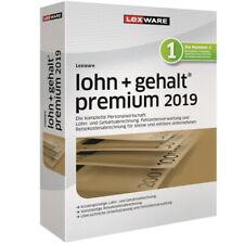 Software LEXWARE Lohn + Gehalt Premium 2019, gebraucht/komplett
