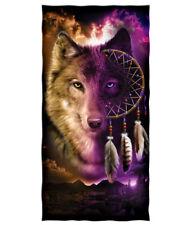 Wolf Dreamcatcher Cotton Beach Towel