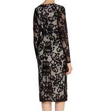 BNWT🌹COAST🌹Size 8 CORALLA BLACK Mono FLORAL LACE PENCIL DRESS (36 EU) New