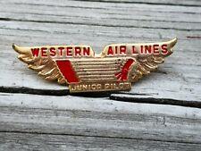 VINTAGE WESTERN AIRLINES JUNIOR PILOT WINGS METAL PIN