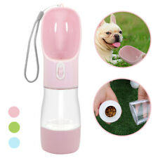 2-in-1 Portable Dog Water Bottle Food Container Dog Traveling Outdoor Bowl 260ml