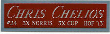 CHRIS CHELIOS RED WINGS NAMEPLATE FOR AUTOGRAPHED Signed STICK PUCK JERSEY PHOTO