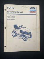 Ford New Holland Operator's Manual Yard Tractor LS25 *1887