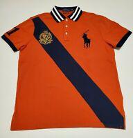 Men's B&T Polo Ralph Lauren Mesh Polo Knit Shirt Big Pony XLT Crested,NWT