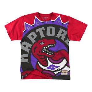 Mitchell & Ness Red NBA Toronto Raptors Big Face T-Shirt