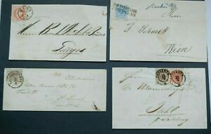 CLASSIC SET OF COVERS + LETTERS AUSTRIA OSTERREICH VF USED B132.21 START $0.99