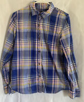 The North Face women purple and pink plaid long sleeve button up shirt