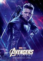 Avengers Endgame movie poster  - 11 x 17 - Hawkeye poster (b) Jeremy Renner