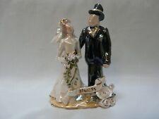 "Blue Sky Clayworks Heather Goldminc ""Always� Wedding Cake Topper Bride & Groom"