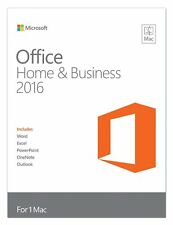 Microsoft Office 2016 Home and Business 32-bit/x64 Eurozone Medialess NEW MAC