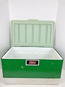 Vintage 1974 COLEMAN SNOW-LITE Green CAMPING Beer COOLER Ice Chest USA #3389824