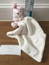 Mothercare Cream Pink Bunny Rabbit Comfort Blankie Blanket Doudou Soft Toy