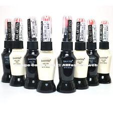 SANTEE 4 WHITE + 4 BLACK COLOR NAIL ART PEN BRUSH DECORATION POLISH ST-8BW[ART]