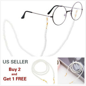 Eyeglass Chain Sunglasses Pearl Glasses Chain Holder Eyewear Rope Necklace I