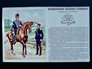 DENBIGHSHIRE HUSSARS YEOMANRY Postcard by Gale & Polden No.1318