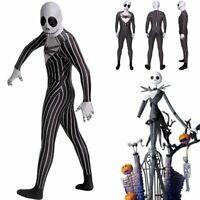 The Nightmare Before Christmas Jack Skellington Adults Cosplay Costume Jumpsuit