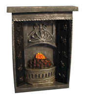 Dolls House Miniature 1/12th Scale Small Dark Grey Victorian Fireplace DF630