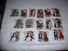 Lot of 15 Vintage Whittle Wonders Stand Up Wood Christmas Decorations