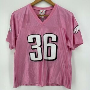 NFL Football Jersey Women's Size L Pink Philadelphia Eagles #36 Brian Westbrook