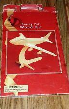 Boeing 747 Wood Plane Model Kit- NEW Package has Damage