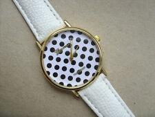 Reloj de Cuarzo inusual Geneva Correa Blanco Manchado frente