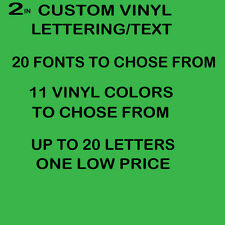 """2"""" CUSTOM VINYL LETTERING/TEXT - Personalized sticker decals for you"""