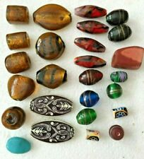 Assorted Semi-Precious Stone Beads, Glass, Resin for Jewelry Making - Lot of 26