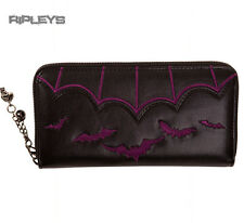 BANNED Clothing Black Wallet Purse BATS Salem Purple Goth Gift