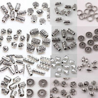 Wholesale 500x Tibet Silver Beads Spacer For Jewelry Making European Bracelet Du