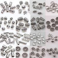 Wholesale 500x Tibet Silver Beads Spacer For Jewelry Making European Bracelet Du