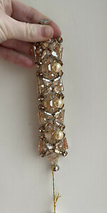 New Amazing MALISSA J Collection Bracelet Gold Glass Crystal Beads Magnetic £25