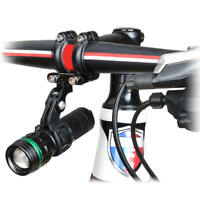 Cycling Bike Bicycle Front Light Holder Flashlight Torch Mount Bracket Black