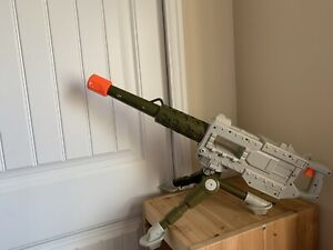 Buzz Bee Toys 50  Caliber Blaster Machine Gun Electronic Toy Sounds w/ Tripod Gr