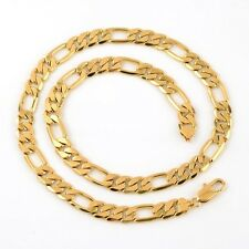 """New Fashion Necklace 18k Yellow Gold Filled Men's Chain Curb 24"""" Link Jewelry"""