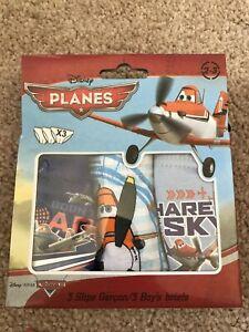 BNWT Disney - Planes Pants/ Briefs x 3. Boys. Age 6 - 8 Years. Blue