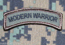 MODERN WARRIOR ROCKER TAB USA ARMY TACTICAL MILITARY MORALE FOREST HOOK PATCH