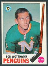1969 70 TOPPS HOCKEY 113 BOB WOYTOWICH NM PITTSBURGH PENGUINS CARD