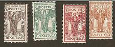 Tripolitania #B7/B9/B10/B11 -1926 Issue - 4 Values Mh & Used(B10)