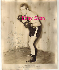 Original 1954 Paddy De Marco Hand Signed Autograph 8 X 10 Photo