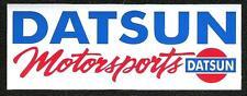 Datsun Motorsports Sticker, Vintage Sports Car Racing Decal, 240Z, 260Z, 280Z