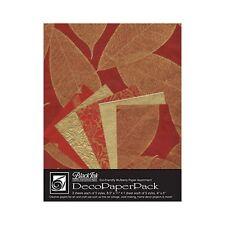 Black Ink Deco Paper Pack Golden Leaves